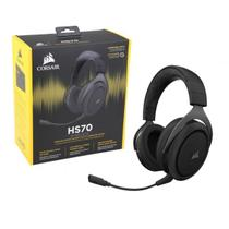 Headphone Corsair Gaming Hs70 Carbon Wirelles Dolby Digital Surround 7.1 - CA-9011175-NA