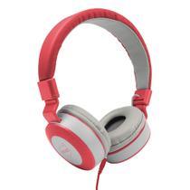 Headphone Dazz Moove C/Microfone P2 - Cinza/Vermelho -