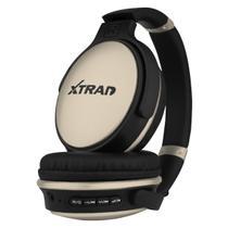 Headphone Fone de Ouvido Xtrad Sem Fio LC-813 Bluetooth - Dourado -