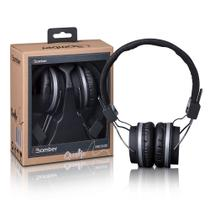 Headphone Fone Hb02 Quake Preto  Acolchoado Com Haste Ajustável e Cabo Flat - Bomber -