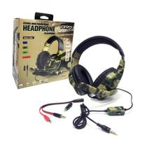 Headphone Gamer Camuflado P2 Microfone PS4 Xbox one Xbox 360 Nintendo Switch PC - Oivo