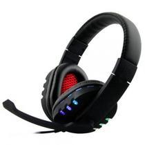 Headphone Gamer CD-9700 Preto/Vermelho USB - Boas -