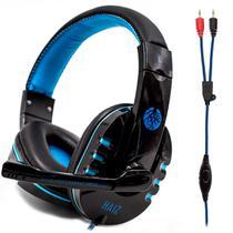 Headphone Gamer Deneb 1802 Luz Led Fio Corda E Microfone - Haiz