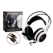 Headphone Gamer Pc Com Microfone 7.1 Branco E Preto Kp-400 - Knup
