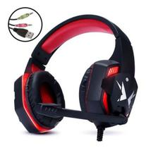 Headphone Gamer Pc Com Microfone - G600   vermelho - Exbom