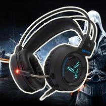 Headphone Gamer USB Headset C Led Microfone PC Xbox Celular - Knup