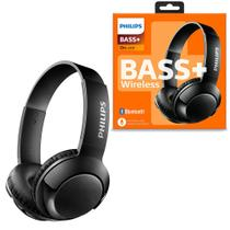 Headphone Headset Philips Sem Fio Bluetooth On-Ear Bass+ Preto Com Microfone - SHB3075BK/00