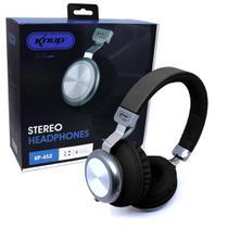 Headphone microfone e bluetooth fm mp3 kp-452 - preto - Knup