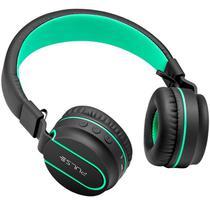 Headphone On Ear Bluetooth P2 Preto E Verde PH215 Multilaser -