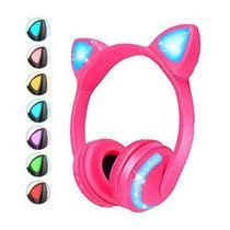 Headphone Orelha de Gato Fone Gamer Feminino LED Colorido Bluetooth Youtubers - Xls