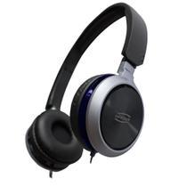 HeadPhone Premium Preto/Azul HS115- Newlink - Newex -