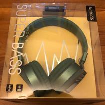 Headphone Super Bass SuoJun SJ-V50 Preto e Dourado Cabo 1.5m - Br