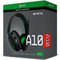 Headset ASTRO Gaming A10 para PlayStation, Nintendo Switch, PC e Xbox - Preto/Verde - 939-001837 - Logitech