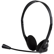 Headset Bright 0010 office c/ Microfone Preto -