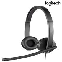 Headset C/Microfone H570E Estereo USB - Logitech -