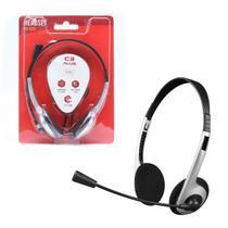 Headset C3 Tech C3Plus Prata P2 3,5mm - PH-01SI - C3TECH