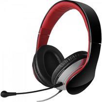 Headset com Alça e Microfone Dobrável e Removível K830 Preto e Vermelho EDIFIER -