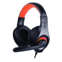 Headset com Microfone USB Preto e Vermelho PH-350BK - C3Tech -