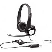 Headset com Microfone USB Preto H390 1 UN Logitech -
