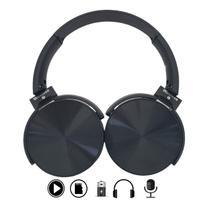Headset Fone com Microfone MicroSd P2 Bluetooth Preto P36 - Pdv