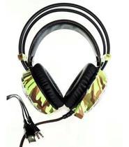 Headset Fone De Ouvido Com Microfone Camuflado Led - Xtrad