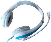 Headset Fone de Ouvido Com Microfone P2 Para Escritório Games Azul - Newlink