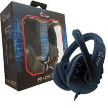 Headset Fone De Ouvido Com Microfone Stereo Com Fio Com Led 3 Em 1 Pc Ps3 Ps4 FEIR FR- 215 -