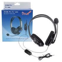 Headset Fone De Ouvido Com Microfone Stereo Com Fio Para Ps4 Play 4 Playstation 4 e Xbox One HYS-MPS401 - J.s.x