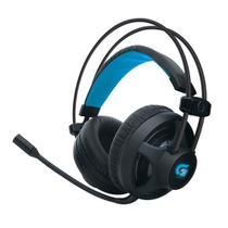 Headset Fone de Ouvido Gamer Fortrek PRO H2 com LED Azul, P2, Preto - H2 -