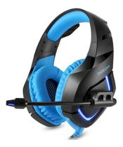 Headset Fone de Ouvido Gamer Onikuma K1-B Preto e Azul -
