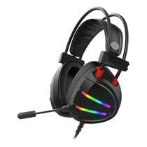 Headset Gamer 7.1 USB RGB K-Mex AR70 Preto Gaming Master -