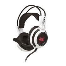 Headset Gamer 7.1 Virtual com Microfone Branco e Preto com Iluminação USB + P2 Knup - KP-400 -