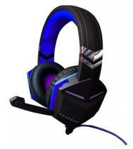 Headset Gamer C/ Fone e Microfone Plug P2 3,5mm - Azul - Feir