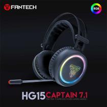 Headset Gamer Captain 7.1 USB RGB Virtual PC Fantech HG15 -