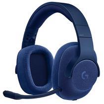 Headset Gamer com fio Microfone Removível USB/P2 Surrond 7.1 G433 Logitech Azul -