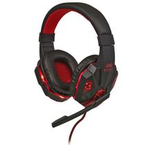 Headset Gamer com Microfone Preto e Vermelho com Iluminação USB Knup - KP-397 -