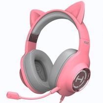 Headset Gamer Edifier G2 II Over-Ear - LED RGB - Som Virtual 7.1 Surround - USB - Rosa - G2II-PK -