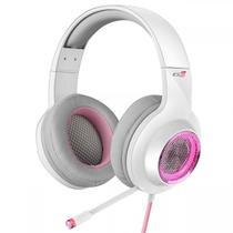 Headset Gamer Edifier G4 PRO 7.1 Virtual, LED RGB, Branco com Rosa p/ PC e PS4 -