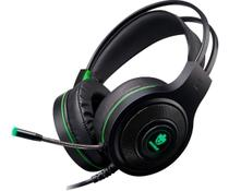 Headset gamer eg-301 com headband led verde evolut