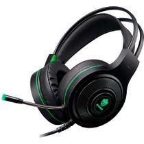 Headset Gamer Evolut Temis Preto e Verde USB e P2 Com Microfone e Iluminação - EG-301GR -