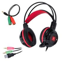 Headset Gamer Fone C/ Microfone P2/P3 3.5mm Vinik Taranis 2 Para PC e Consoles de Vídeo Game -