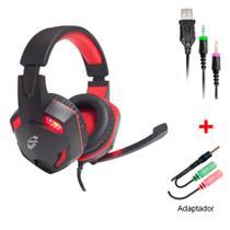 Headset Gamer Fone de Ouvido com LED MK1L Preto Digital -