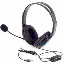 Headset gamer fone de ouvido com microfone para ps4 playstation 4 pc p2 jogos online e skype - Knup