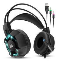 Headset Gamer Fone De Ouvido KP 464 7.1 Led Com Microfone P2 Usb - Knup