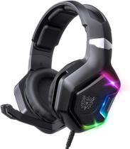 Headset Gamer Fone de ouvido Surround luz LED RGB compatível com PS4, Xbox One, Nintendo Switch, PC - Onikuma