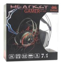 Headset Gamer Fone De Ouvido Usb 7.1 Microfone Led Rgb Pc P2 - KNUP