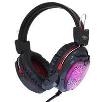 Headset Gamer Fone Ouvido com Microfone Usb P2 Led Pc Jogos Infokit GH-X10 XSoldado Preto Vermelho -