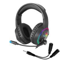 Headset Gamer Fortrek BlackFire RGB Rainbow -