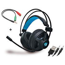 Headset Gamer Fortrek H2 Pro Para PC, Consoles de Vídeo Game + Adaptador P3 3.5mm -