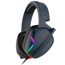 Headset Gamer Havit H2019U - LED RGB - Conector USB - com Microfone - Azul Marinho - HV-H2019U -